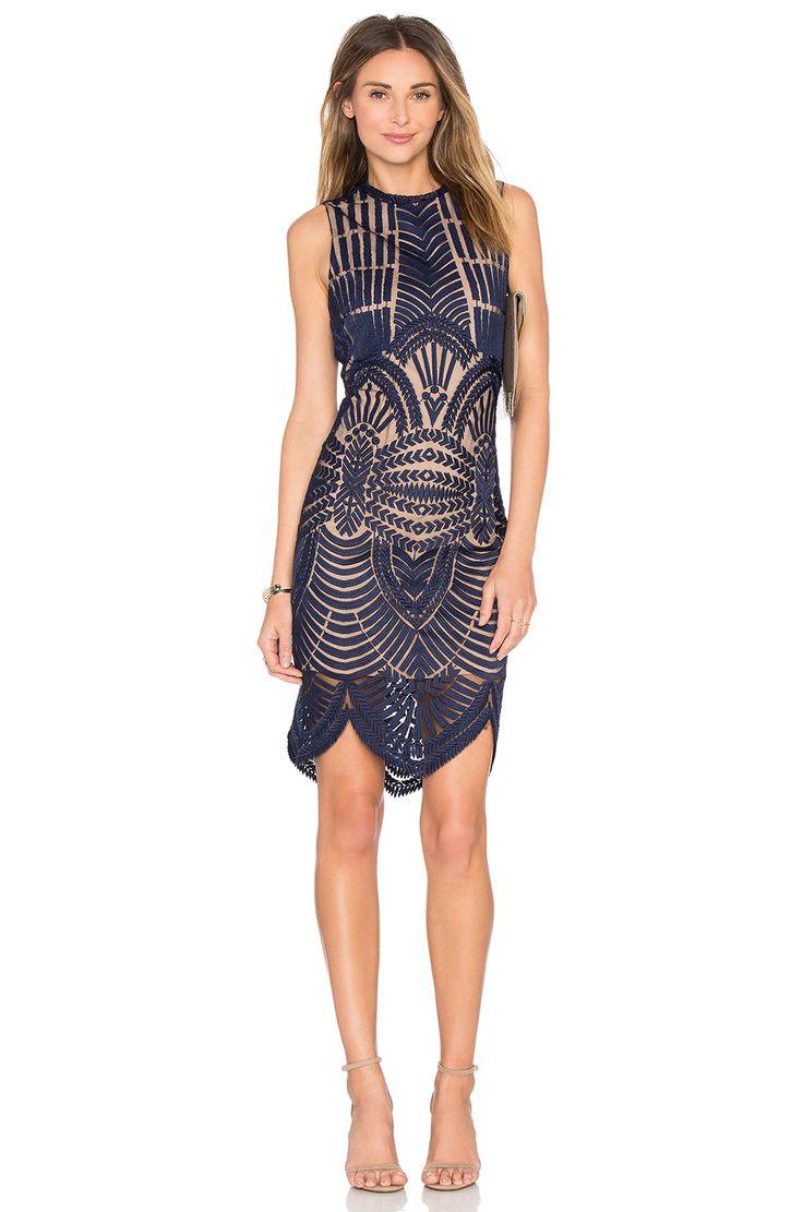 Bardot Divinity Dress in Ink | REVOLVE