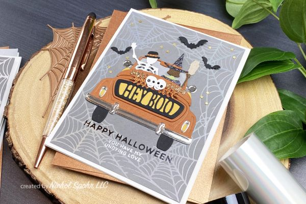 Holiday Brand Halloween 2020 Collection Foiled Frames Halloween Cards (Spellbinders 2020 Fall/Halloween