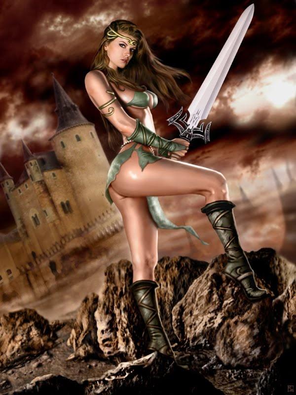 картинки девушек обнжённых и воины желательно фэнтези