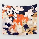 Abstract, paint splatter, painting, red, yellow, blue, navy, orange