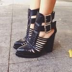 Deathinparis in the Cantu Cutout Boot (http://www.nastygal.com/shoes/cantu-cutout-boot)