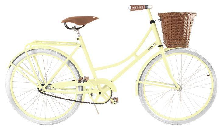 Modelo Florenza en color amarillo con canasto.