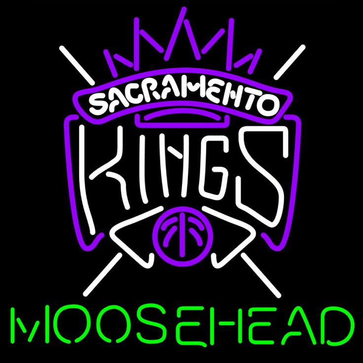 Moosehead Sacramento Kings NBA Neon Beer Sign, Moosehead with NBA Neon Signs | Beer with Sports Signs. Makes a great gift. High impact, eye catching, real glass tube neon sign. In stock. Ships in 5 days or less. Brand New Indoor Neon Sign. Neon Tube thickness is 9MM. All Neon Signs have 1 year warranty and 0% breakage guarantee.