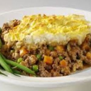 Dash Diet Shepherd's Pie With Baking Potatoes, Low-fat Milk, Lean Ground Beef, Onions, Garlic, Flour, Frozen Mixed Vegetables, Reduced Sodium Beef Broth, Shredded Cheddar Cheese, Ground Pepper