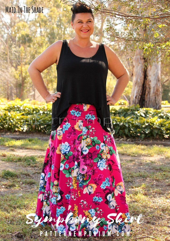 Symphony Skirt Maxi Skirt Pattern Skirt Patterns Sewing Skirts