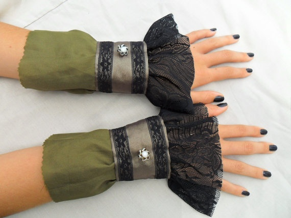 steampunk cuffs - where could I wear these? work? probably not...