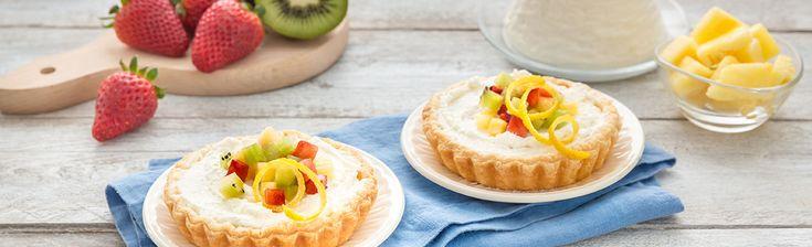 Mini Crostata di Ricotta con Fragole, Ananas e Kiwi | Vallelata