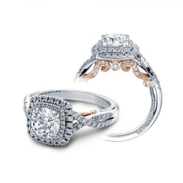 Verragio Insignia 7084cu Tt Platinum Engagement Ring Engagement Rings Twisted Vintage Engagement Rings Platinum Engagement Rings