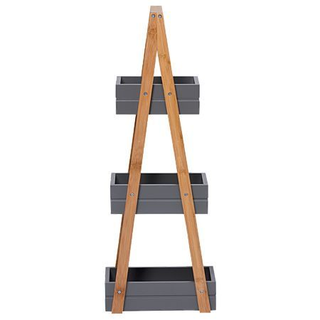 Sort It Bamboo 3 Tier A Frame Caddy Charcoal