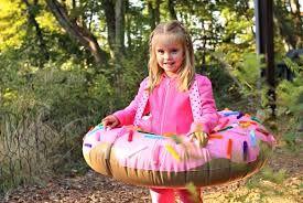 Donut costume! #kidscostumes #donuts #pinkdonuts   Sweet Child o' Mine Club  https://www.facebook.com/sweetchildomineclub/