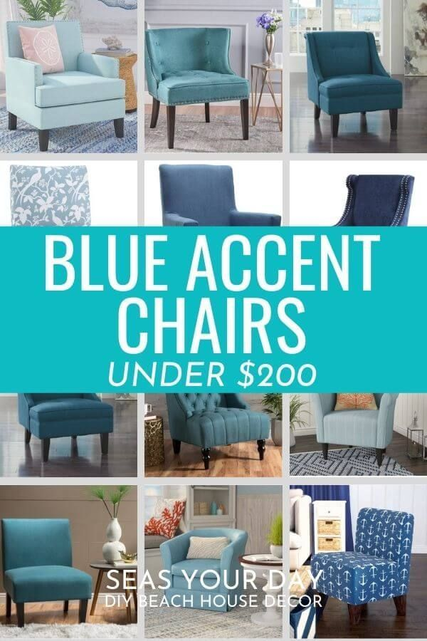99 Coastal Blue Accent Chairs Under 200 In 2020 Blue Accent Chairs Accent Chairs Coastal Chairs