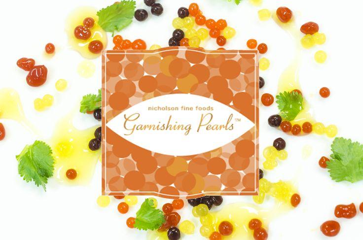 Garnishing Pearls with packaging logo
