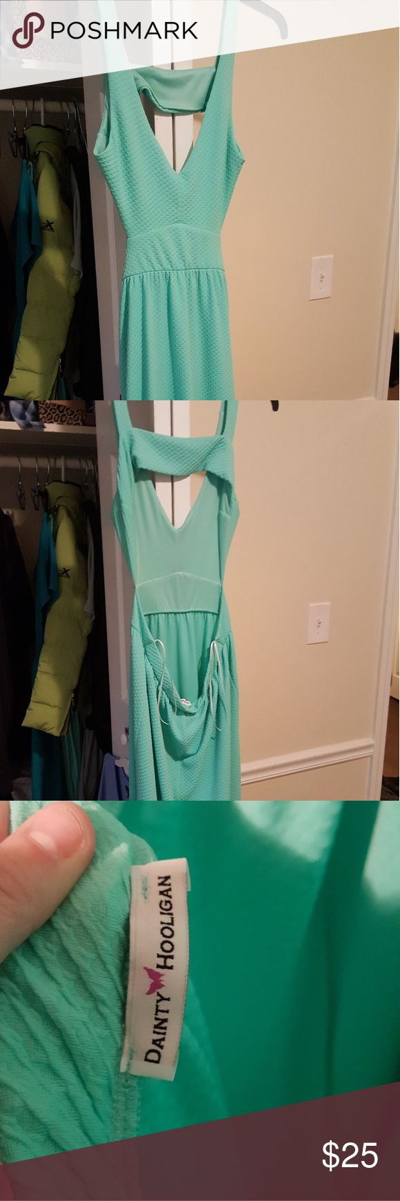 Mint Summer Maxi Dress Backless maxi dress from Dainty Hooligan.  Mint, perfect for summer! Dainty Hooligan Dresses Maxi