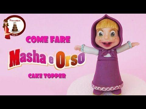 How to make Masha (and the bear) cake topper fondant tutorial masha e orso torta…