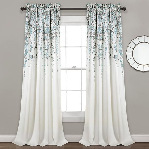 Weeping Flower Room Darkening Window Curtain Set Flower Room
