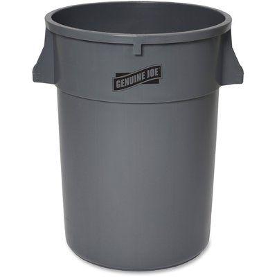 """Genuine Joe 44-Gallon Heavy-Duty Trash Container Size: 31.62"""" H x 23.75"""" W x 23.76"""" D"""