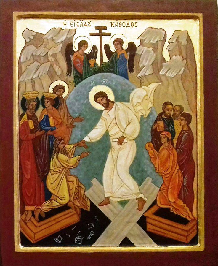 Krisztus feltámadása és a pokolra szállás Oroszország XVI. század