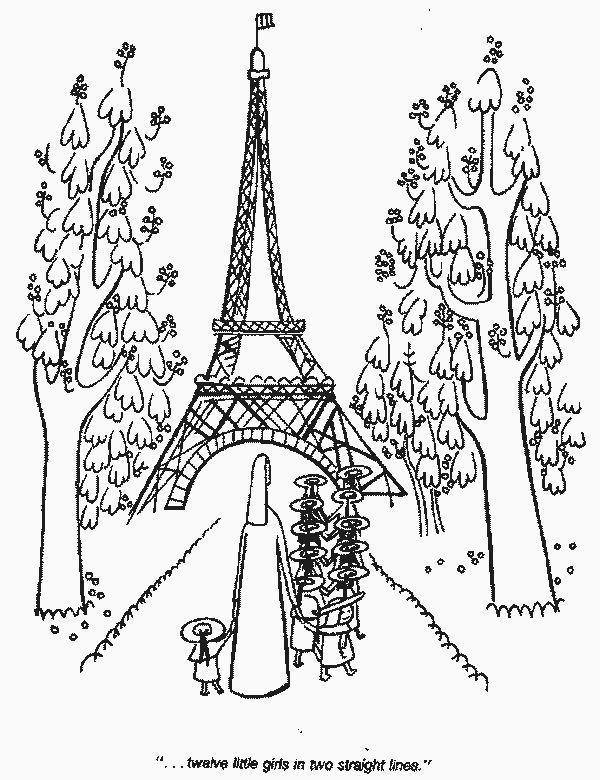 Madeline At The Effle Tower Coloring Pages