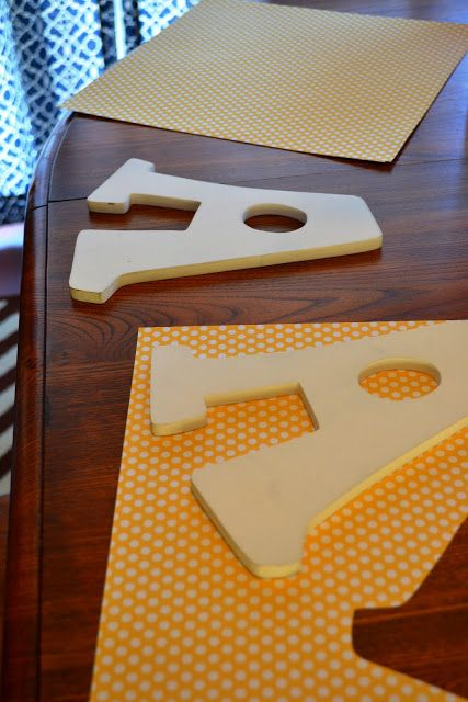 This Girl's Life: DIY: Mod Podge and Wooden Letters