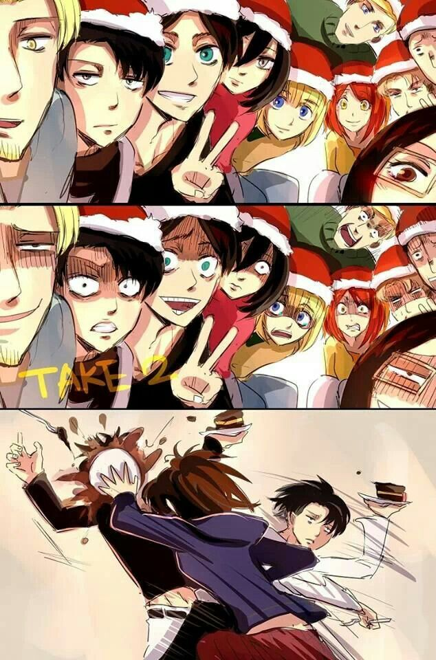Shingeki no Kyojin ♥ Christmas anime Anime Pinterest
