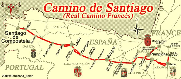 The Camino Map