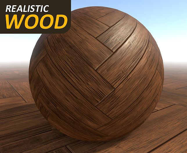 Cubebrush. Realistic Wood Textures: - 4 types of Wood for Furniture (3 levels of glossiness) - Simple Old Wood - 2 types of Wooden Parquet (3 levels of glossiness) - Old Wooden Parquet - Simple Painted Wood - Damaged Painted Wood - Wooden Planks - Painted Wooden Planks  All wood style includes a BW Albedo map for customized color.  Unity Package with Standard Specular materials included.