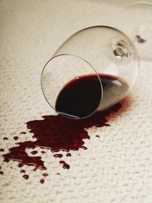 clean red wine spills on carpet using salt u0026 vinegar
