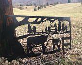 Hereford Farm Sign, Custom Metal Sign