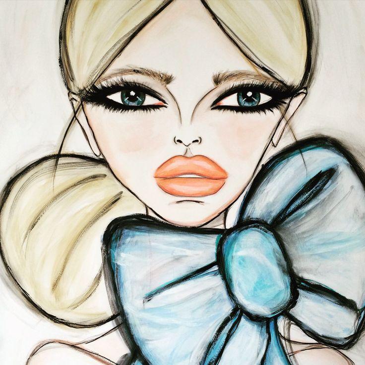"""Original Artwork """"Blue Bow"""""""
