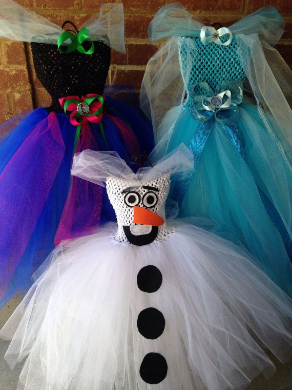 Matching Sibling Frozen Anna Elsa Tutu Dress by MissMatchBoutique