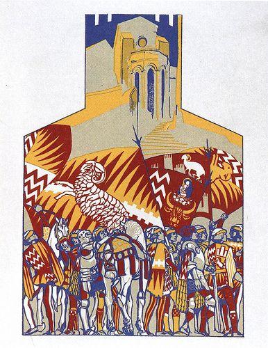 Contrada di Valdimontone - Siena - Duilio Cambellotti 1932 #TuscanyAgriturismoGiratola