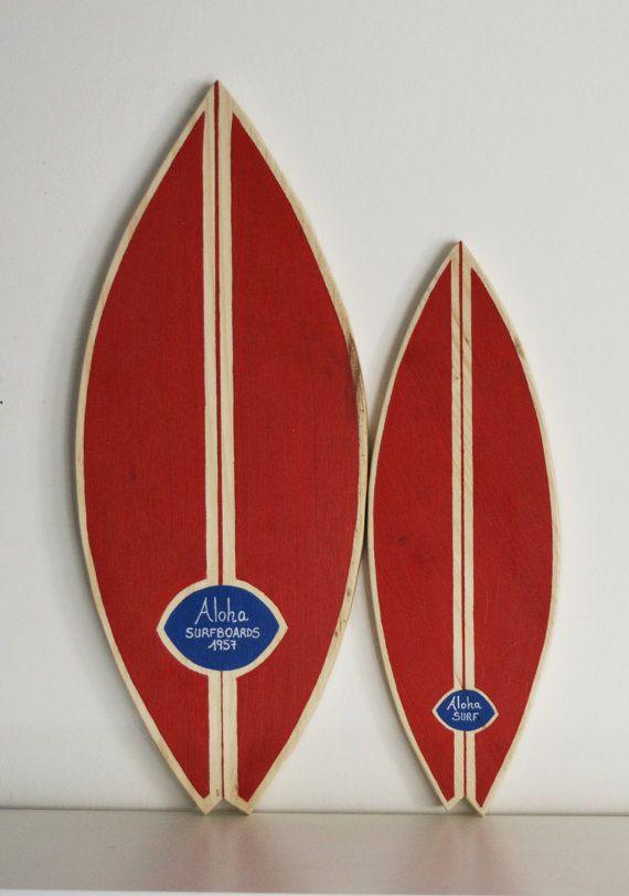 Surfboard Tabla de surf de madera de decoración