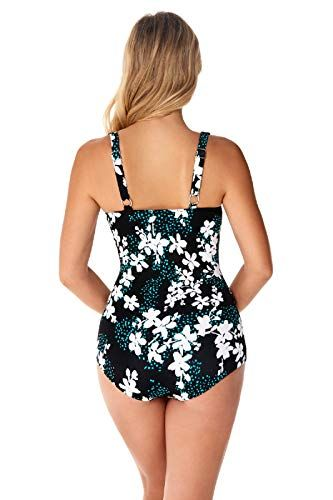 0d03cedd109 Penbrooke Garden Confetti Mastectomy Shirred Girl Leg One Piece Swimsuit