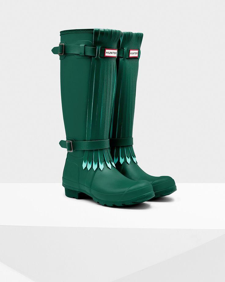 Women's Original Tall Fringe Rain Boots | Official Hunter Boots Site