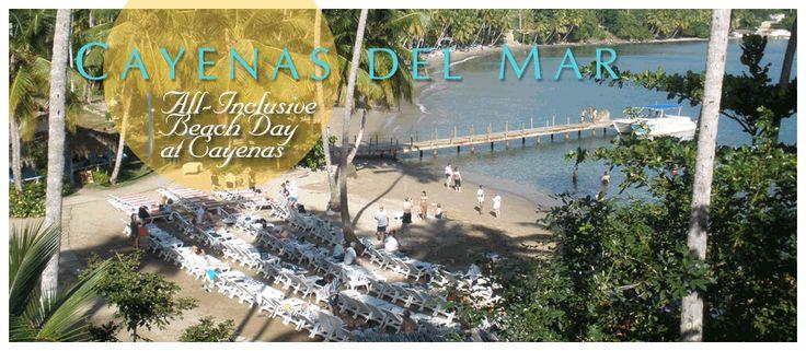 All-Inclusive Beach Day at Cayenas del Mar Beach Club - Bar Restaurant on Playa Anadel in Samana... #caraibconnexion#