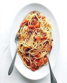 Classic Spaghetti Puttanesca   Recipe   Spaghetti, Pasta Puttanesca ...