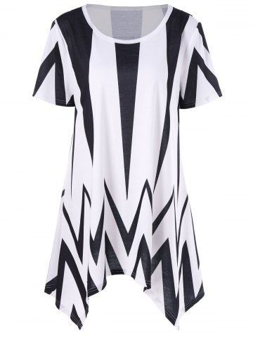 GET $50 NOW | Join RoseGal: Get YOUR $50 NOW!http://m.rosegal.com/plus-size-t-shirts/plus-size-chevron-asymmetric-t-shirt-1090079.html?seid=8390427rg1090079