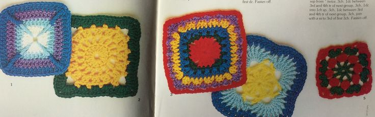 Crochet afghan square patterns.  Crochet blanket.  Crochet stitch library.  Busy Needles. Part 1