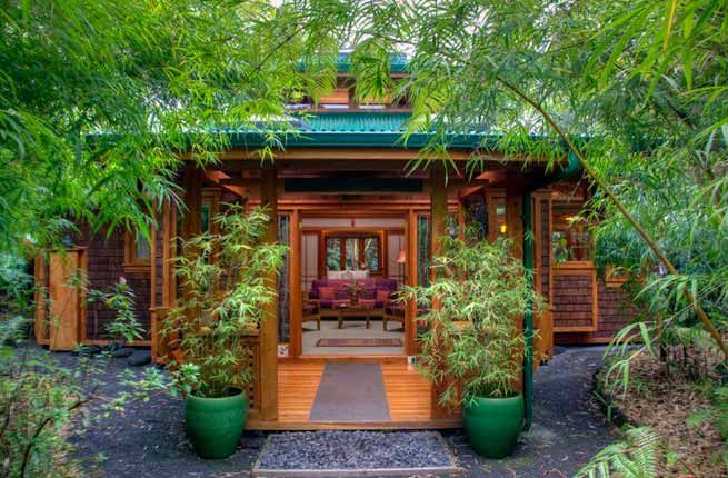 Tropical Vacations You Can Actually Possibly Afford Volcano Rainforest Retreat, Big Island, Hawaii - At an altitude of 3,800 feet, the four cottages of Volcano Rainforest Retreat ...