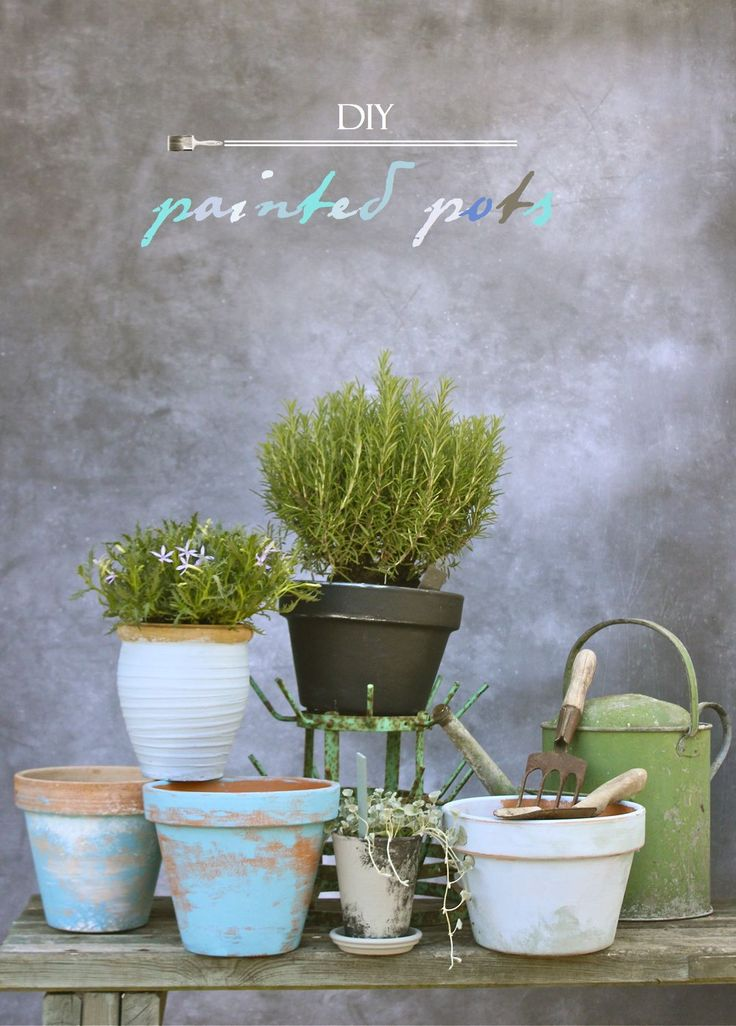 DIY Painted Pots from katescreativespace