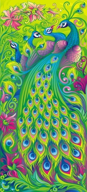Harem by ~GruberJanPeacocks Painting, Colors Tattoo, Beautiful Birds, Animal Illustration, Peacocks Colors, Peacock Colors, Peacocks Feathers, Peacocks Art, Art Illustration