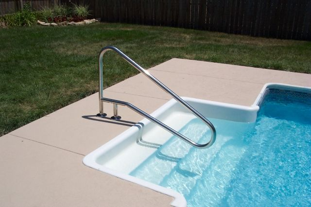 In Ground Pool Ladders Installation -  #Ladders #Pool Check more at http://wwideco.xyz/in-ground-pool-ladders-installation/