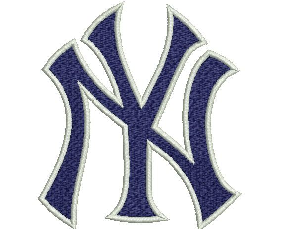 """New York Yankees embroidery designs. Letter Logo. Formats: CSD, DST, EXP, HUS, JEF, PES, SHV, VIP, XXX, VP3,   Sizes:  2.47x2.76"""", 3.35x3.75"""", 4.25x4.76"""""""" .  Price 2.50$   Contacts: provokatro04@rambler.ru"""