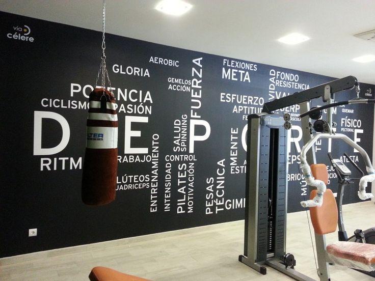 Vinilo gym feo 800 600 el dise o la decoracion pinterest - Decoracion de gimnasios ...