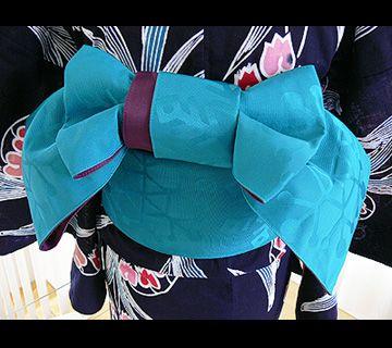半幅帯結び リサイクル着物ショップ くるり http://kururiobi.exblog.jp/