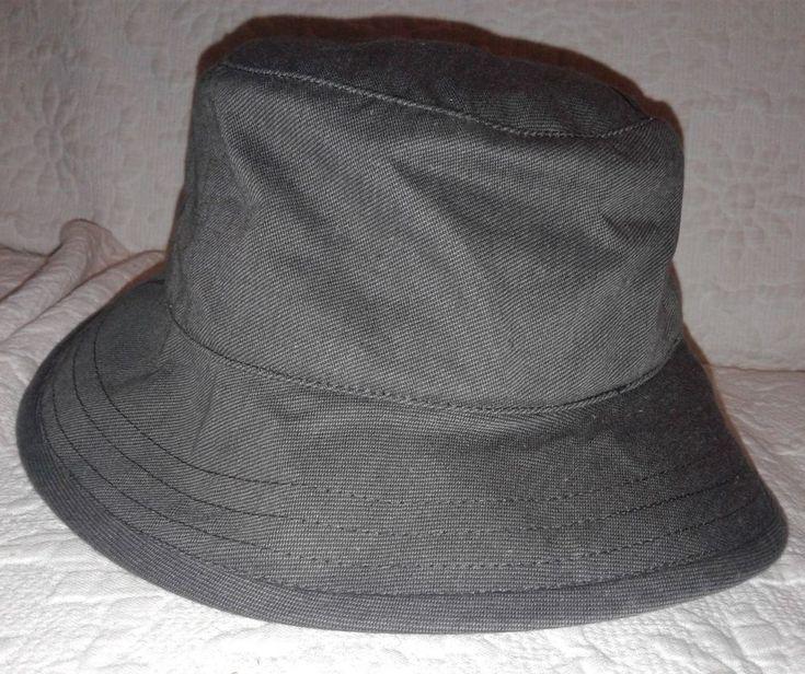 """Tilley Endurables Uban Hat Size Small Head 23"""" Grey Excellent #Tilley #Bucket"""