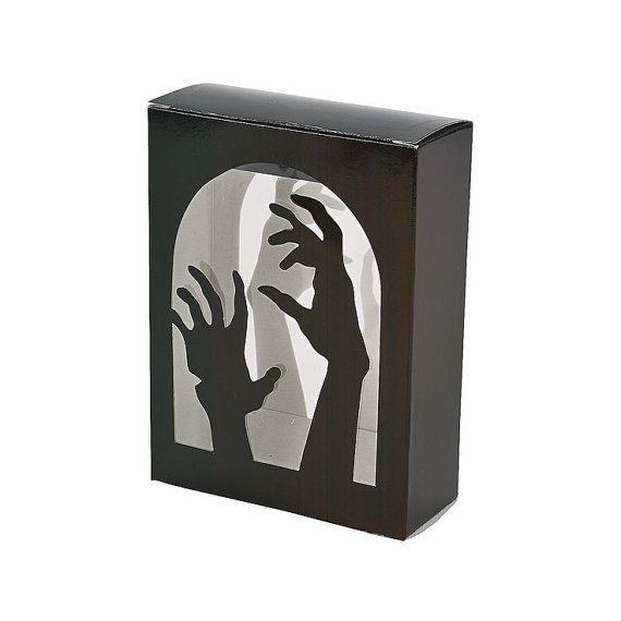 Black Zombie Bakery Box Gothic Cupcake Boxes Zombies Party Window Display Baked Goods