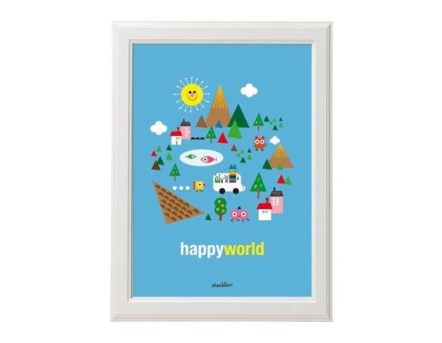 """Ilustración / Illustration """"Happy world"""". Printable http://es.dawanda.com/shop/linavila"""