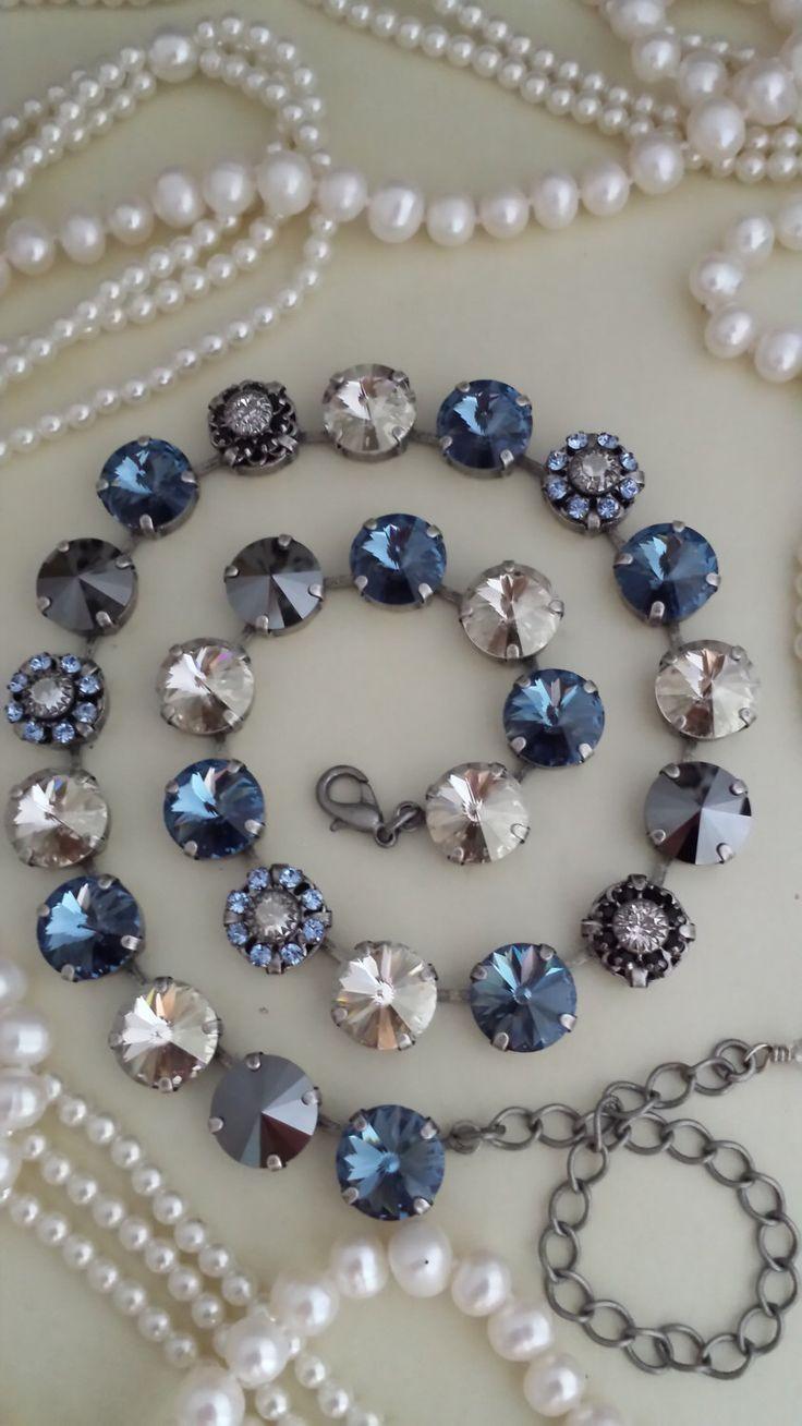 Sabika look necklace - New Puttin On The Glitz Addition Day Dreamer Necklace 12mm Genuine Swarovski Crystal Necklace