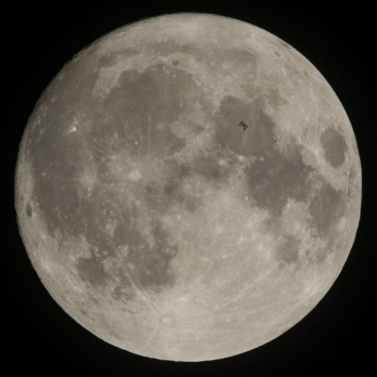 Space Station Transits the Moon